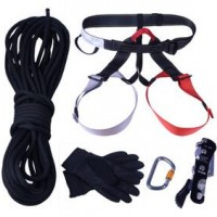Hand Control Down Rope Rock Climbing Rescue Equipment