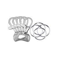 Metal Swivel Lanyard Snap Hook with Key Rings