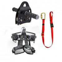 Pro Backyard Zip Line Kit Harness Lanyard Trolley Bundle