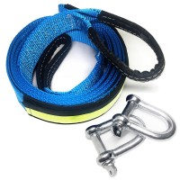 Recovery Strap, 5m 8ton / 16.5ft 17000Lb Tow Strap Winch Rope For Road Recovery.
