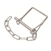 Hitch Pin and Chain Assembly for Pintle Hook