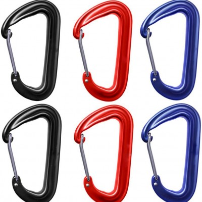 Carabiners for Hammocks 2 4 6 8 pcs Sets Lightweight Strong Aluminum with Storage Pouch