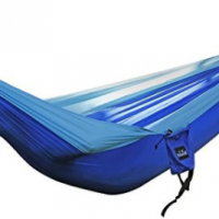 Outdoor 260x130cm folding Parachute cloth hammock