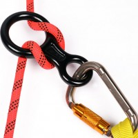 Climbing gear aluminum figure 8 descender