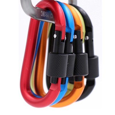 Outdoor D Shaped Keychain Buckle for Camping